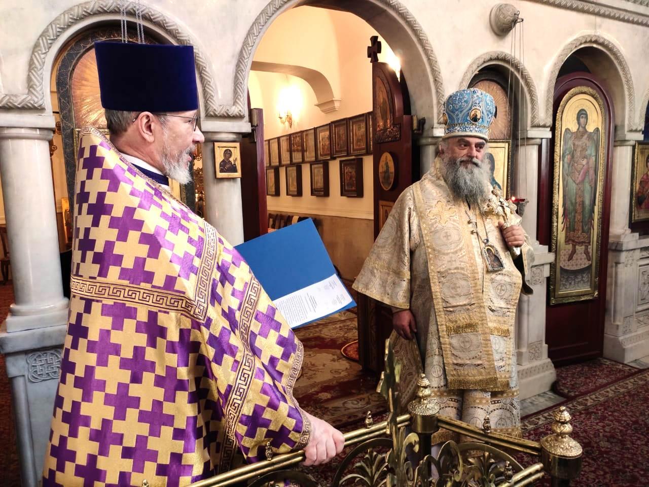 """""""ჩვენ, ქართველები და რუსები, ერთი სამოციქულო ეკლესია ვართ!"""" - მეუფე ნიკოლოზი მოსკოვის წმ. გიორგის ტაძარში"""